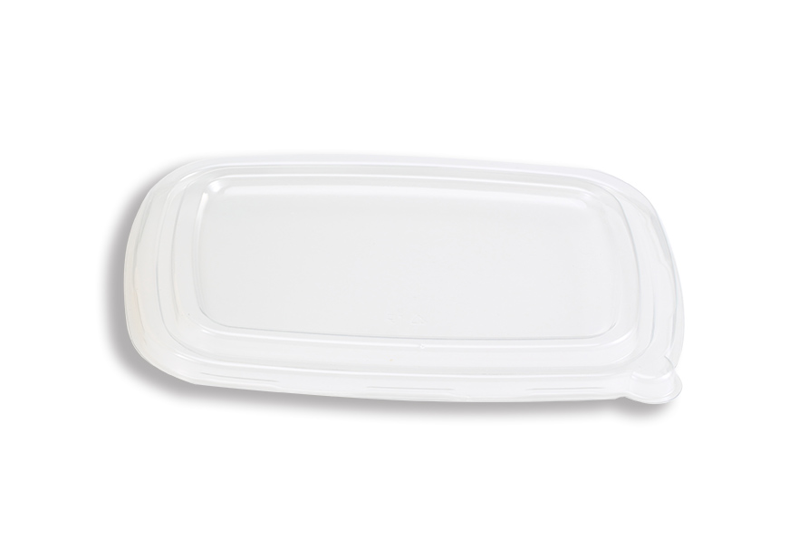 PET flat lid for 6X8.5 tray
